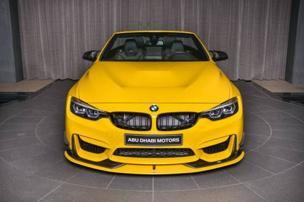 Unique BMW M4 Convertible on display in the showroom Abu Dhabi