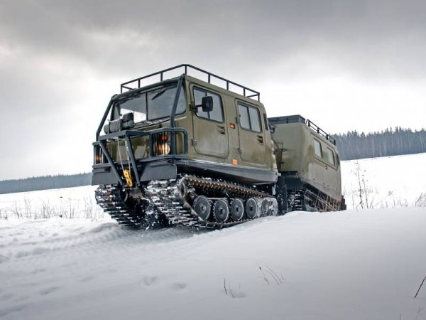 All the best from Mercedes: test drive vehicle BV-206 Elk with a diesel engine