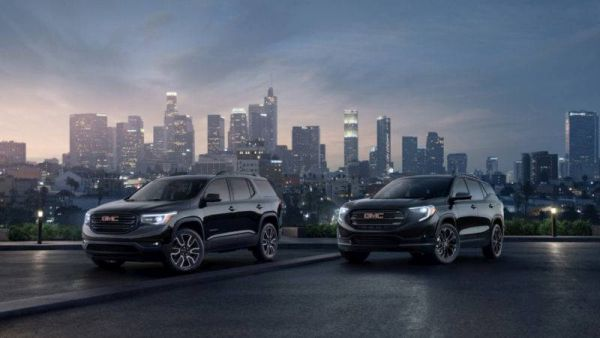 GMC has announced a black version of the Acadia and Terrain