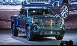 Premiere of the GMC Sierra pickup truck new generation
