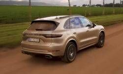Porsche revealed details of a movie preview tests Cayenne E-Hybrid