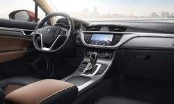 Geely showed a restyled interior cross-hatch Emgrand GS