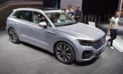 In China, Volkswagen showed the new Touareg