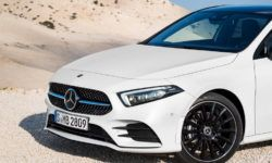Sedan Mercedes-Benz A-Class can be present in Beijing on April 25