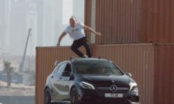 Mercedes-Benz showed the best stunts with their cars