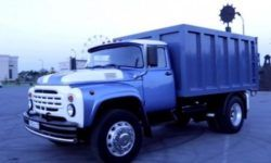 As an old ZIL-130 taught to squat