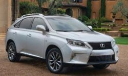 The Lexus RX crossover was melted in the Parking lot under the sun