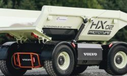 Volvo has started to test an unmanned, electric trucks