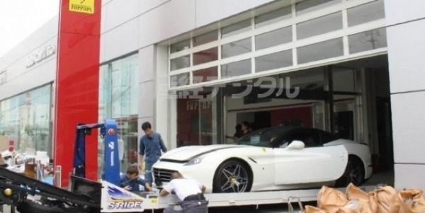 Typhoon in Japan has killed 50 supercars Ferrari