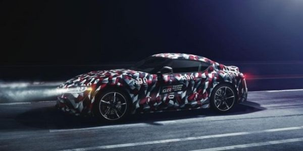 Camouflage new Toyota Supra turned into wrapping paper for gifts ... d5451d2b04