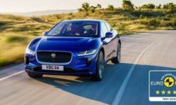 Electric crossover Jaguar I-PACE received five stars in the Euro NCAP rating