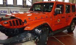 Jeep Wrangler and the Fiat Panda showed a poor protection during a frontal impact