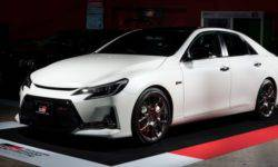 Toyota introduced a sports version of the Mark X sedan with a carbon fiber roof