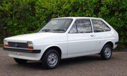The Ford Fiesta hatchback of the first generation sell with almost no mileage