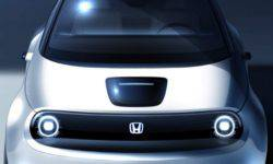 The prototype of the new serial of the electric vehicle, Honda will show in Geneva