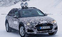 All terrain version of the updated Audi A4 is first seen on the tests