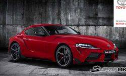 Toyota showed in the video, testing the new Supra