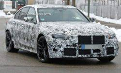The new M3 from BMW again spotted on the tests