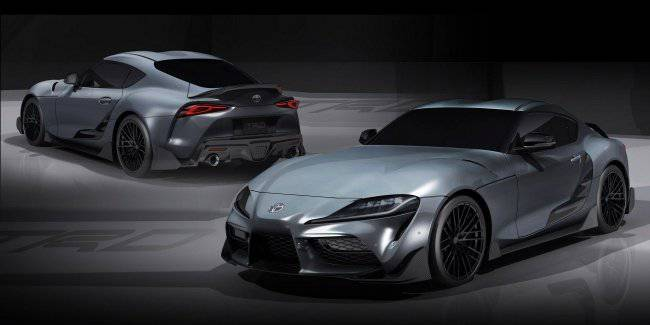 "Toyota showed another ""Supra"" with a body kit carbon fiber"