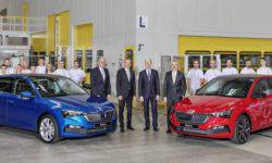 Skoda built the first production models of the compact hatchback Scala