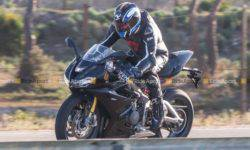 Triumph is testing a prototype of a new motorcycle Daytona 765