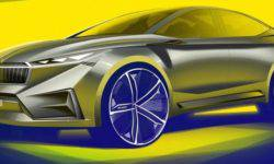 The first images of the concept car Skoda Vision iV
