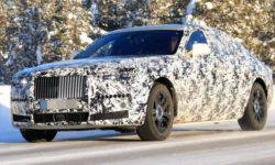 New Rolls-Royce Ghost caught on winter tests