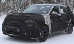 New compact crossover KIA Tusker was spotted on the tests