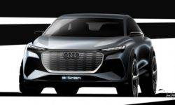 Audi has released the first images of the new crossover Q4 electric e-tron