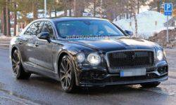 In the Network appeared spy photos of the new Bentley Flying Spur 2020