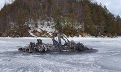 A mysterious incident: the burnt Tesla Model X found on a frozen lake
