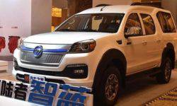 Of the Foton Tunland pickup truck has become in an electric van