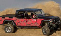 Pickup Jeep Gladiator prepare for the off-road race