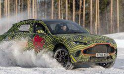 Aston Martin is testing its first crossover in winter