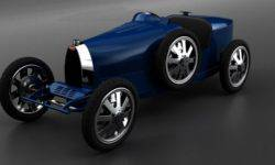 Children electric car the Bugatti which becomes 50 km/h