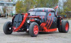 Incredible hot rod GAS turned into a tow truck in the style of Mad max