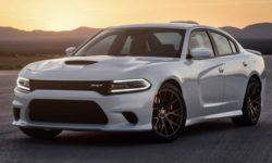 The prototype of the new Dodge Charger SRT Hellcat spotted on public roads