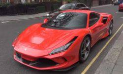 Tributo Ferrari F8 noticed on the streets of London