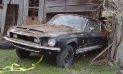Shelby GT500, covered with 40 years of dust, sold at auction