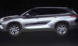 New Toyota Highlander will show on 17th April at the motor show in new York