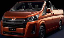 Toyota introduced an open version of the HiAce van for Australia