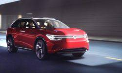 Volkswagen introduced a large electric crossover