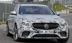 There were photos of the updated Mercedes-AMG E63 2021