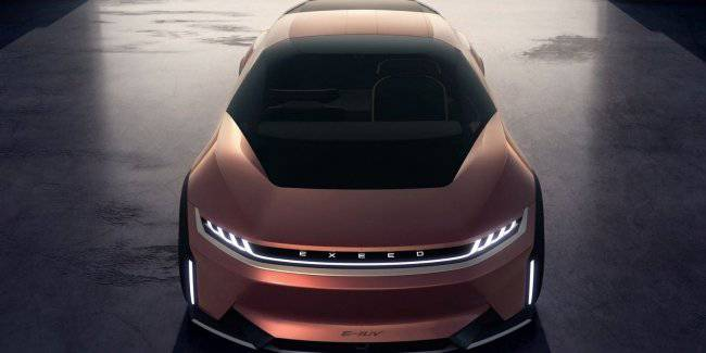 "In Shanghai debut ""bronze"" concept Chery"