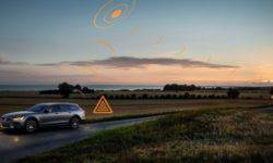 In Europe, Volvo cars will share information about slippery roads and potential threats