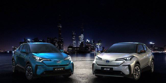 Toyota has brought to Shanghai just two electric versions of the C-HR