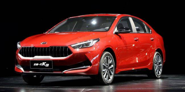 KIA unveiled the Chinese version of the sedan K3