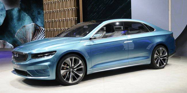 Sedan Geely Preface: Volvo platform and a new face