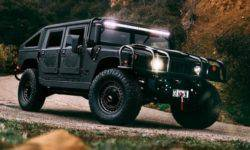 "The Americans built ""three times black"" 510-horsepower Hummer H1"