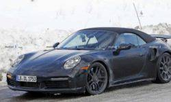 There were pictures of the new Porsche 911 Turbo Cabrio